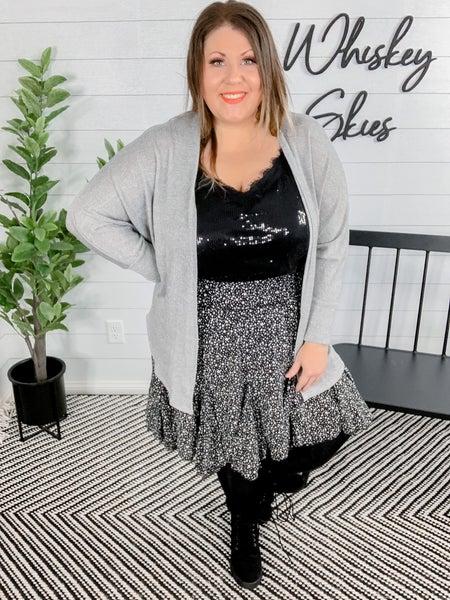 PLUS/REG Ditzy Leopard Print Skirt