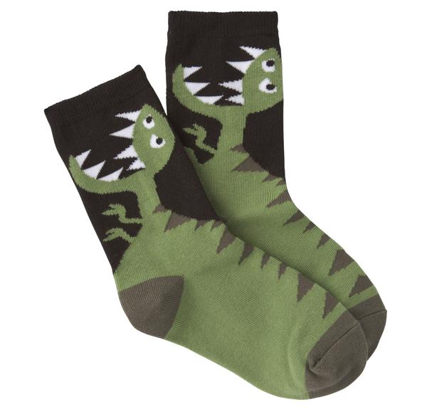 Kid's Dino Crew Socks (Two Prints)