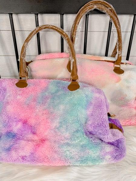 Tie Dye Sherpa Bags