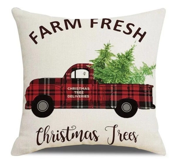Farm Fresh Holiday Pillow Cover