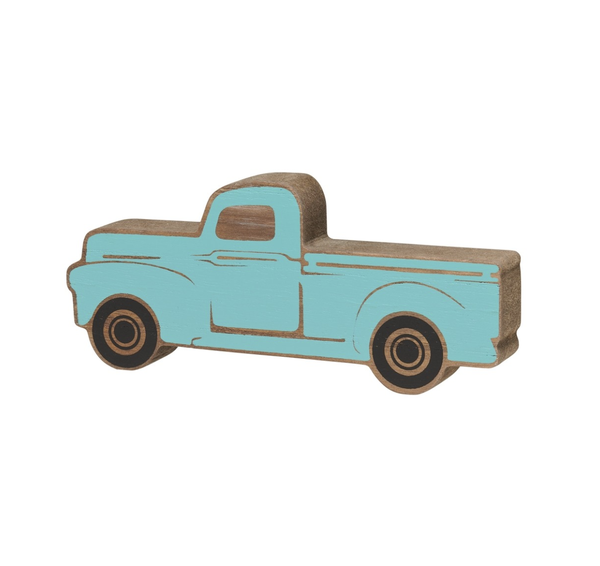 SMALL BLUE TRUCK WOOD CUTOUT