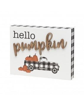 Pumpkin 3D Truck Box Sign