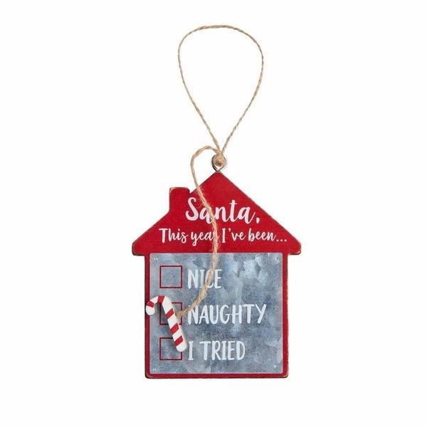 Nice or Naughty Checklist Ornament