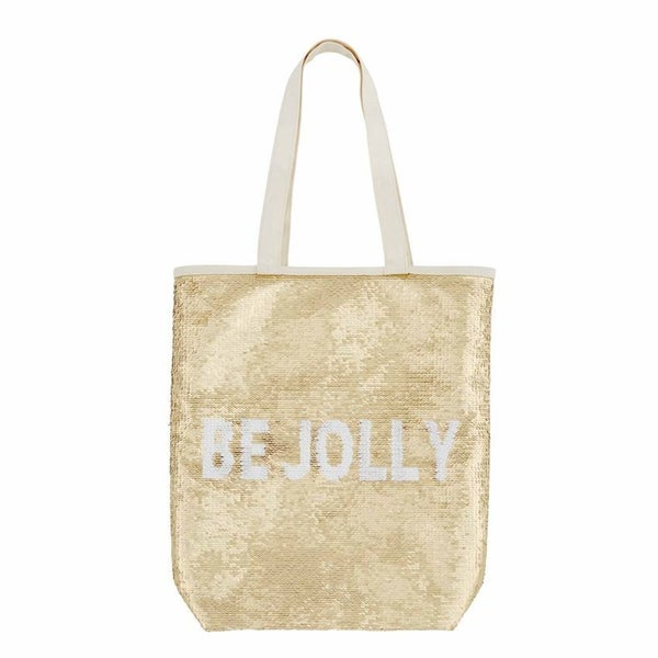 Holiday Swipe Tote - Gold