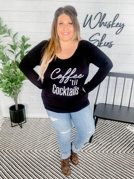 PLUS/REG Coffee Til Cocktails Graphic