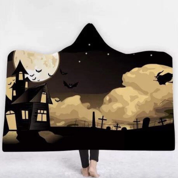 Cemetery Witch Hoodie Blanket