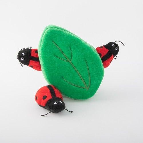 Laddybugs in Leaf Dog Toy