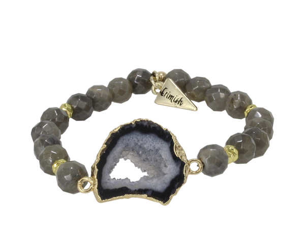 Black Druzy Stone Bracelet