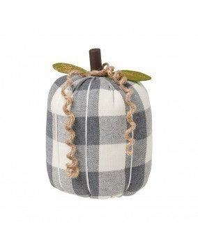 Large GW Checkered Fabric Pumpkin