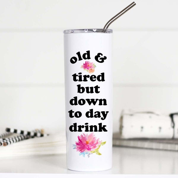 Old And Tired Tall Travel Cup