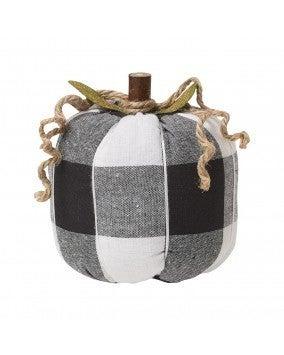 Medium BW Checkered Fabric Pumpkin