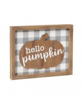 Hello Pumpkin 3D Sign