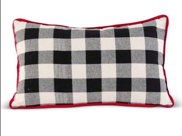 """20"""" Buffalo Plaid Rectangular Pillow"""