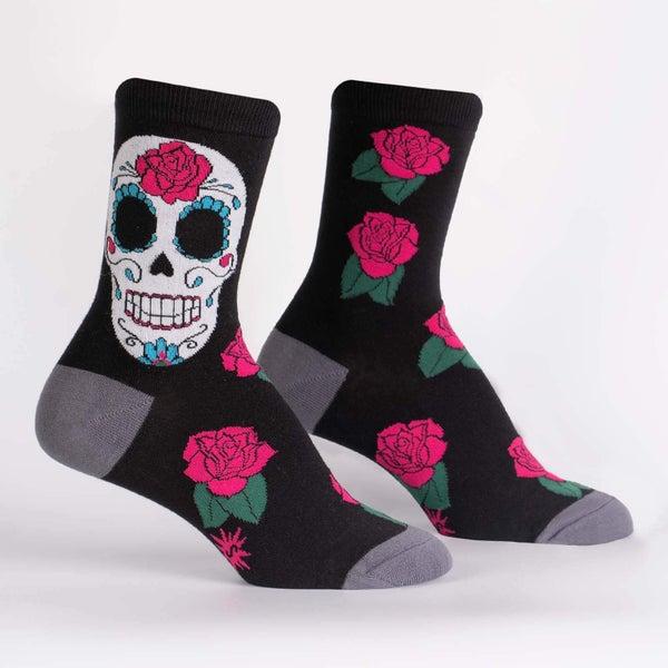 Sugar Skull Crew Socks