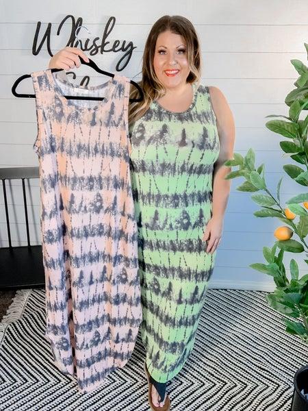 PLUS/REG Tie Dye Maxi Dress *FINAL SALE*