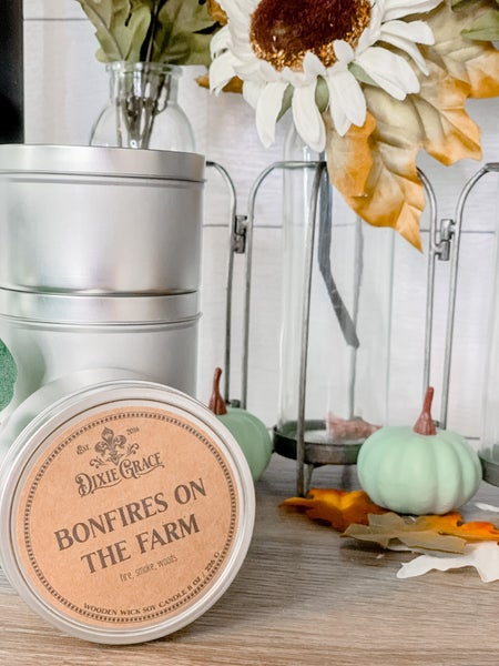 8oz Fall Scent Candles (4 Scents)