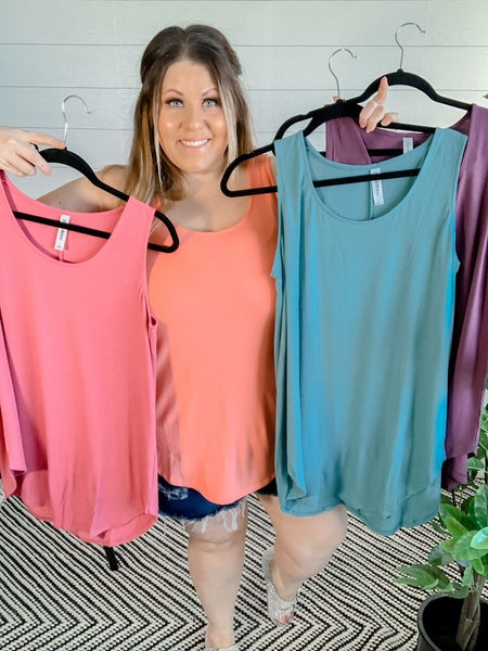 PLUS/REG Basic Relaxed Tanks (Multiple Colors) *FINAL SALE*