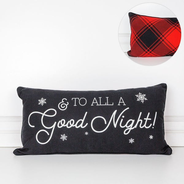 Good Night Double Sided Pillow