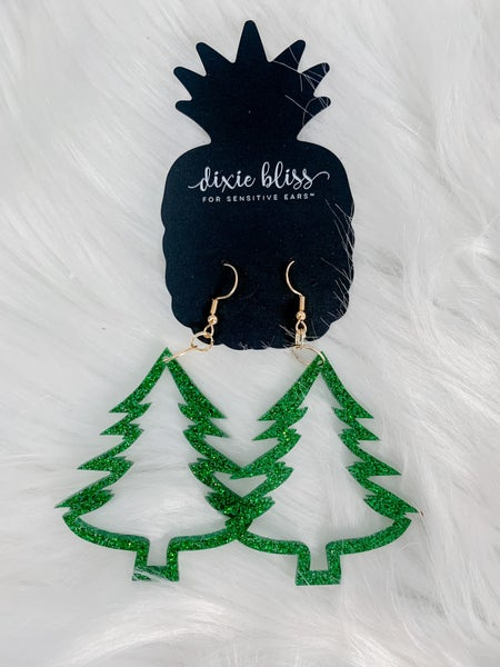 Dixie Bliss Christmas Trees Dangling *FINAL SALE*