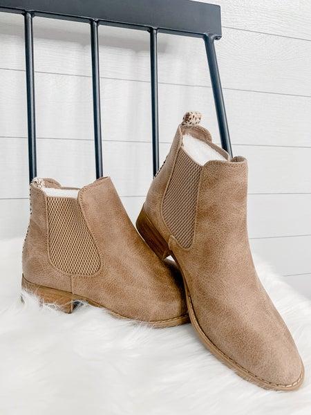 Beige Women's Boots W/ Heel