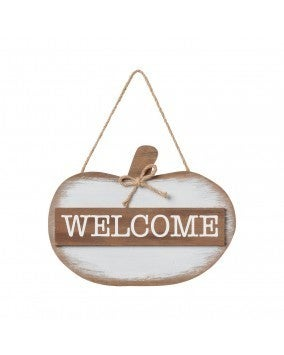 Welcome Pumpkin 3D Hanging Sign