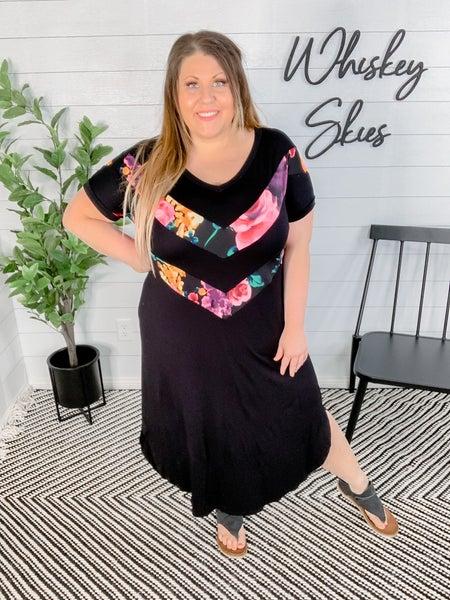 PLUS/REG Colorful Maxi Dress