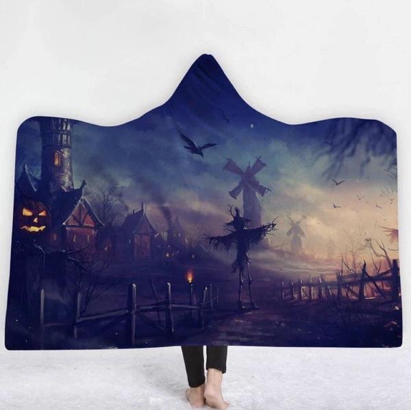 Scare Crow Hoodie Blanket