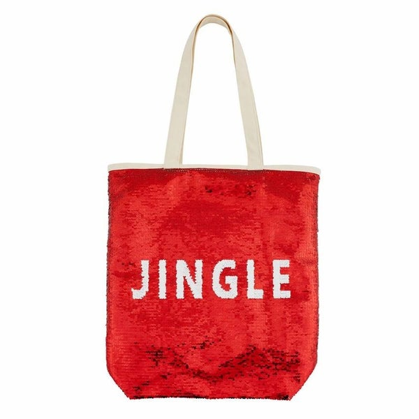 Holiday Swipe Tote - Red *FINAL SALE*