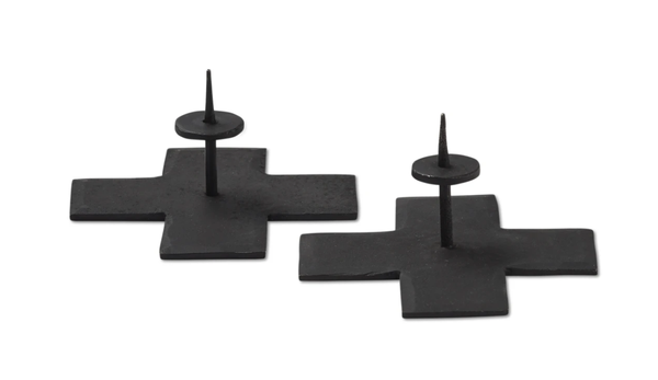 Rae Dunn Icon Taper Candle Holder Set