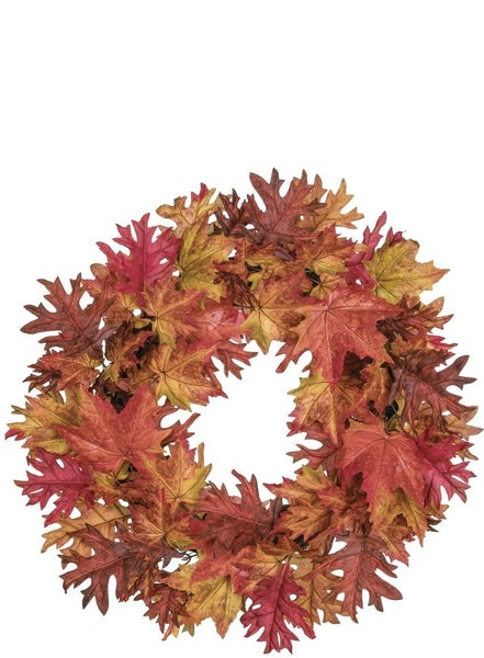 Maple and Oak Leaf Wreath