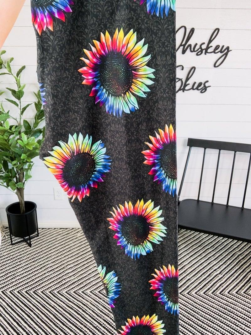 Tie Dye Sunflower Leggings