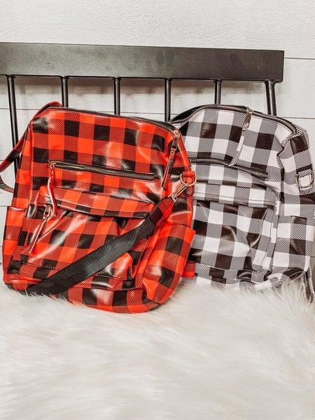 Plaid Backpack/Purse
