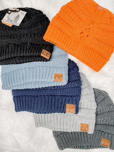 Criss Cross Knit Beanies