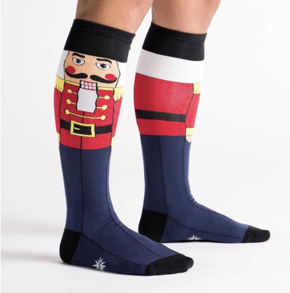Nutcracker Knee High Socks (Womens)