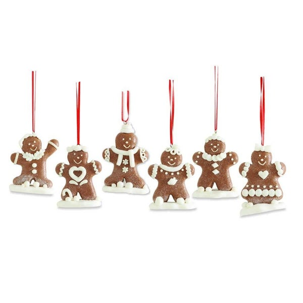 "3.5"" Assorted Gingerbread Cookie Ornaments"
