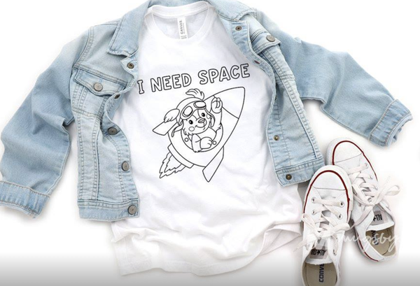 PLUS/REG/KIDS Coloring Tee I Need Space