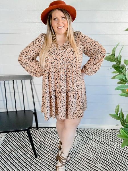 PLUS Flowy Leopard Dress
