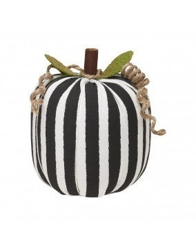 Medium BW Striped Fabric Pumpkin