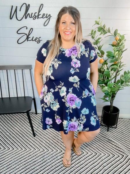 PLUS/REG Midnight Floral Dress