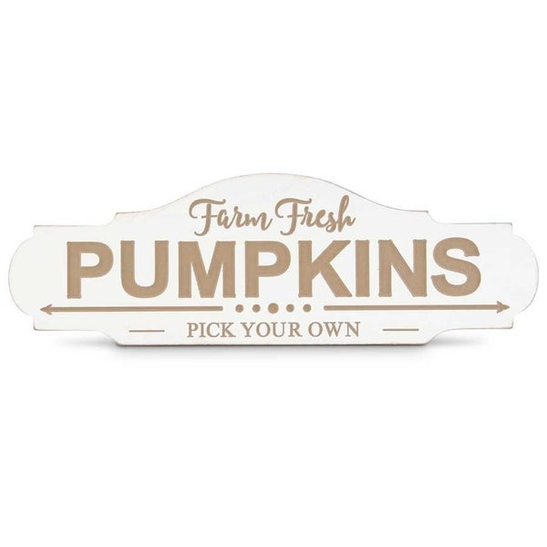 Oval Engraved Farm Fresh Pumpkins Sign