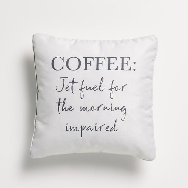 Coffee Is My Jet Fuel Pillow