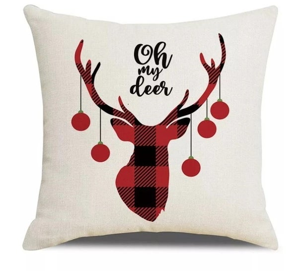 Oh My Deer Holiday Pillow Cover