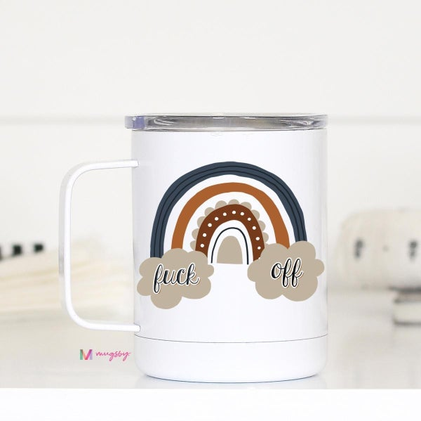 Fuck Off Rainbow Mug