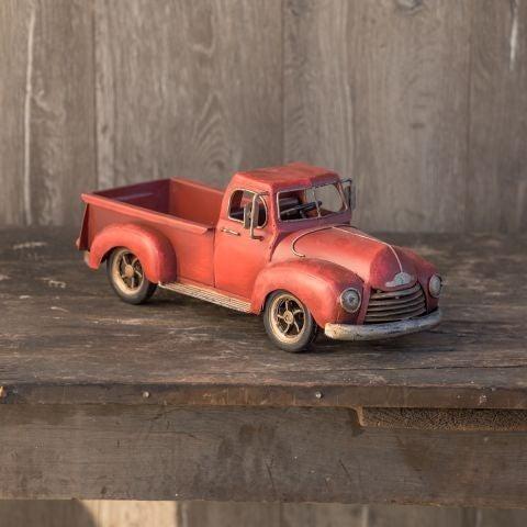 Red Metal Vintage Truck