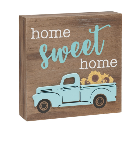 Home Sweet Home 3D Box Sign