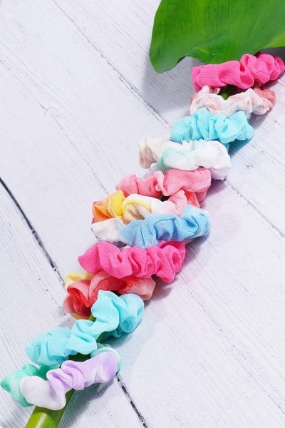3-Pack Of Mini Ombre and solid Scrunchies
