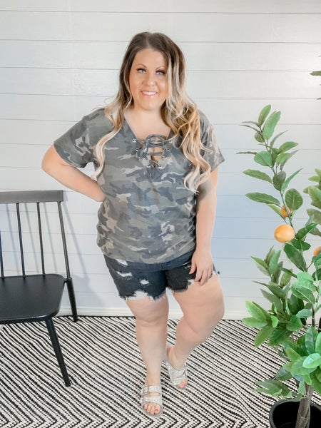 Camo French Terry Top