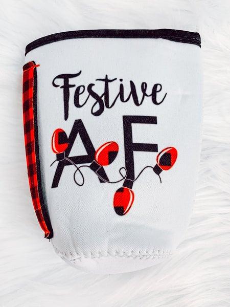 Festive AF Koozie with Handle