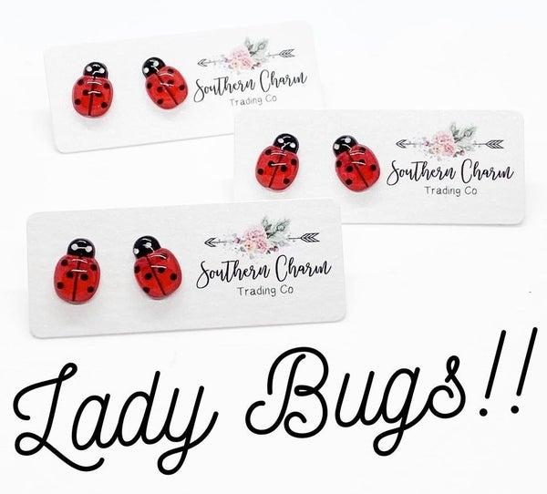 Lady Bug Studs