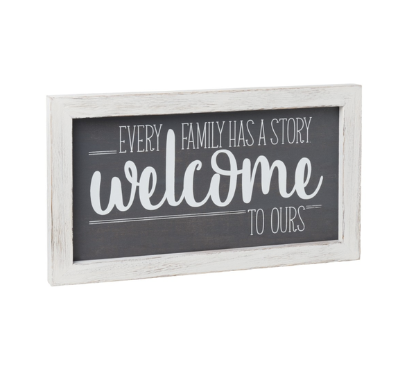 Welcome Story Framed Sign